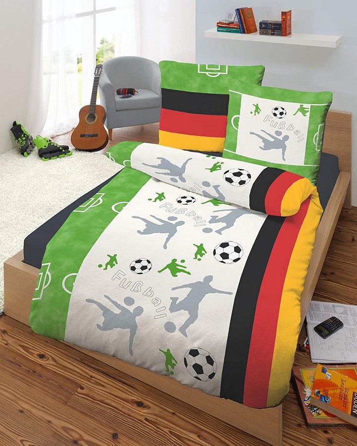 ußball Bettwäsche mit Deutschlandflagge