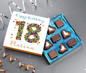 Geschenk-Pralinen zum 18. Geburtstag