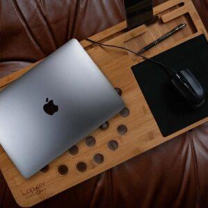 Laptopunterlage aus Bambusholz