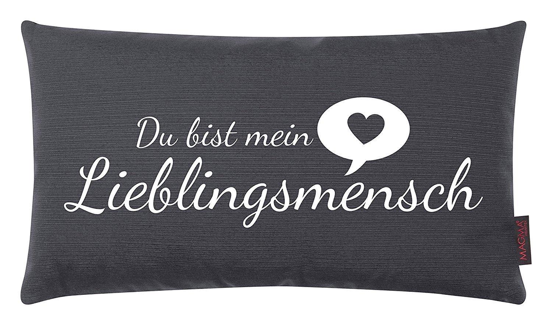 magma kissen lieblingsmensch anthrazit 30x50 cm. Black Bedroom Furniture Sets. Home Design Ideas
